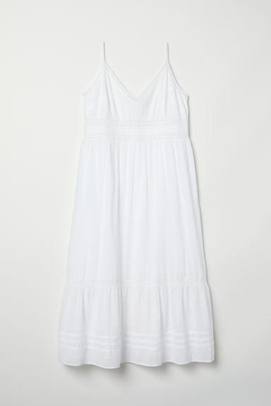 H&M+ Dress with lace - White - Ladies | H&M