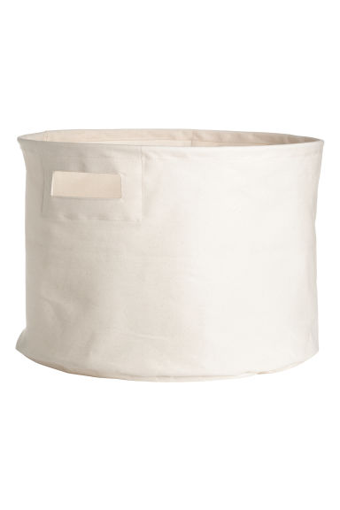 Cotton twill storage basket - Natural white -  | H&M CN