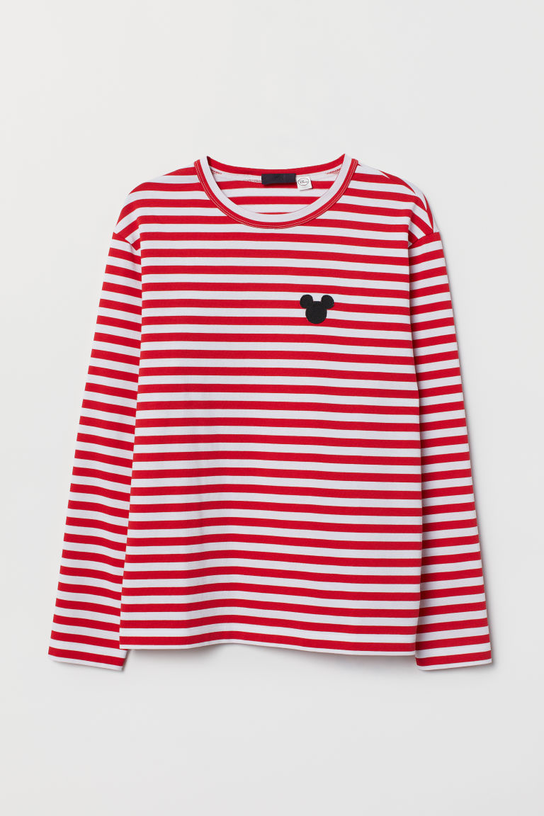 Striped jersey top - Red/White striped - Men | H&M