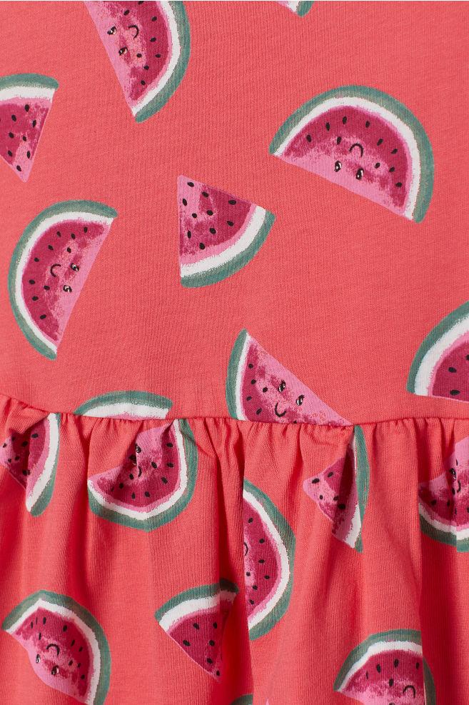26e7c209dbf88a Sleeveless Jersey Dress - Dark pink watermelons - Kids
