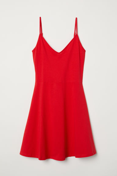 Short jersey dress - Red - Ladies | H&M