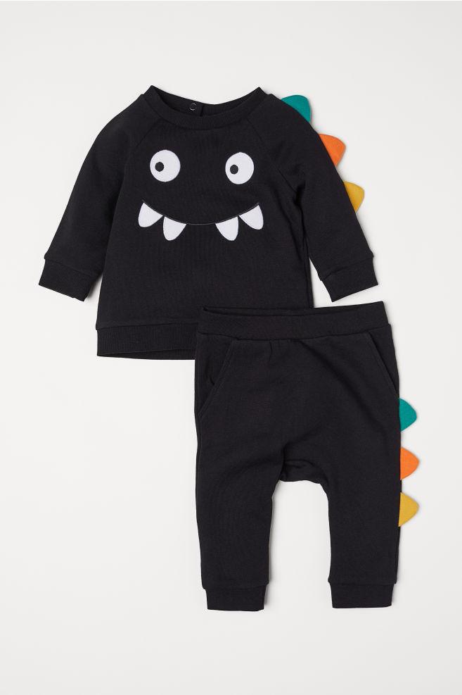 19befd12b Sweatshirt and Pants - Black dinosaur - Kids