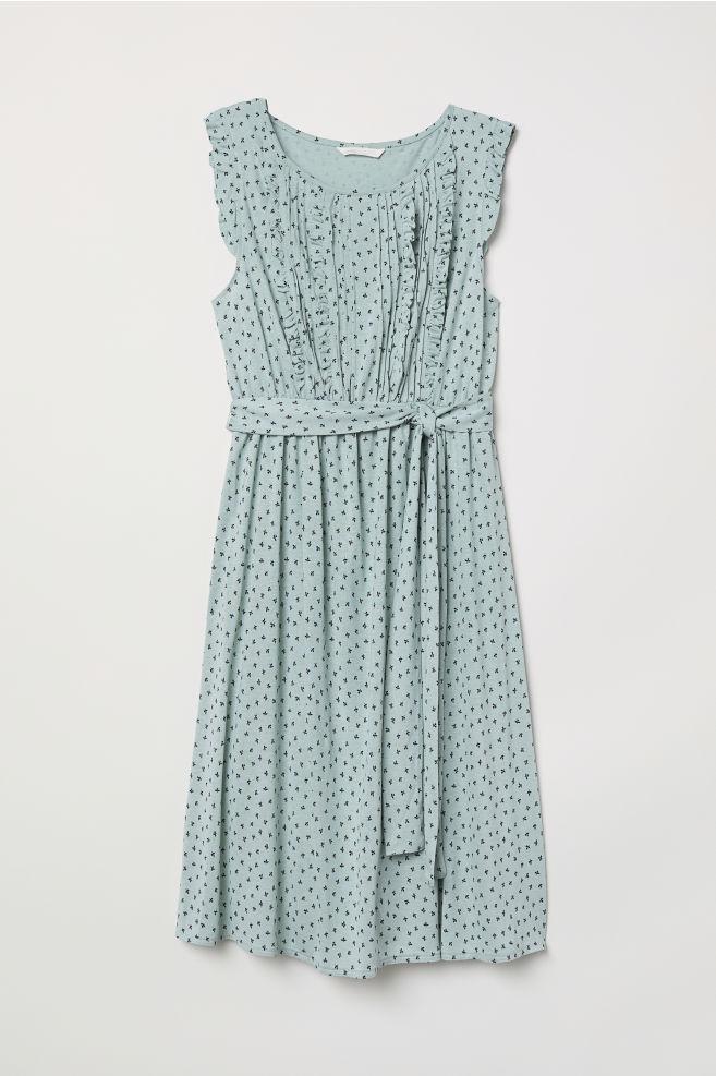 6c5014c6d35fc MAMA Jersey Dress - Light turquoise/patterned - Ladies | H&M ...