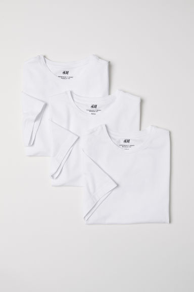 3-pack T-shirts Muscle Fit - White - Men | H&M