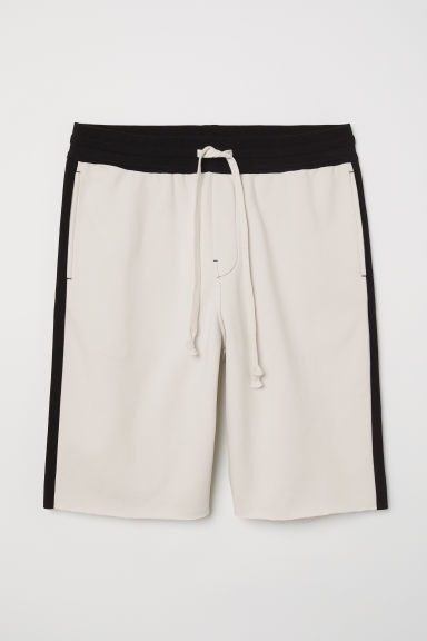 Sweatshirt shorts - White/Black - Men | H&M CN