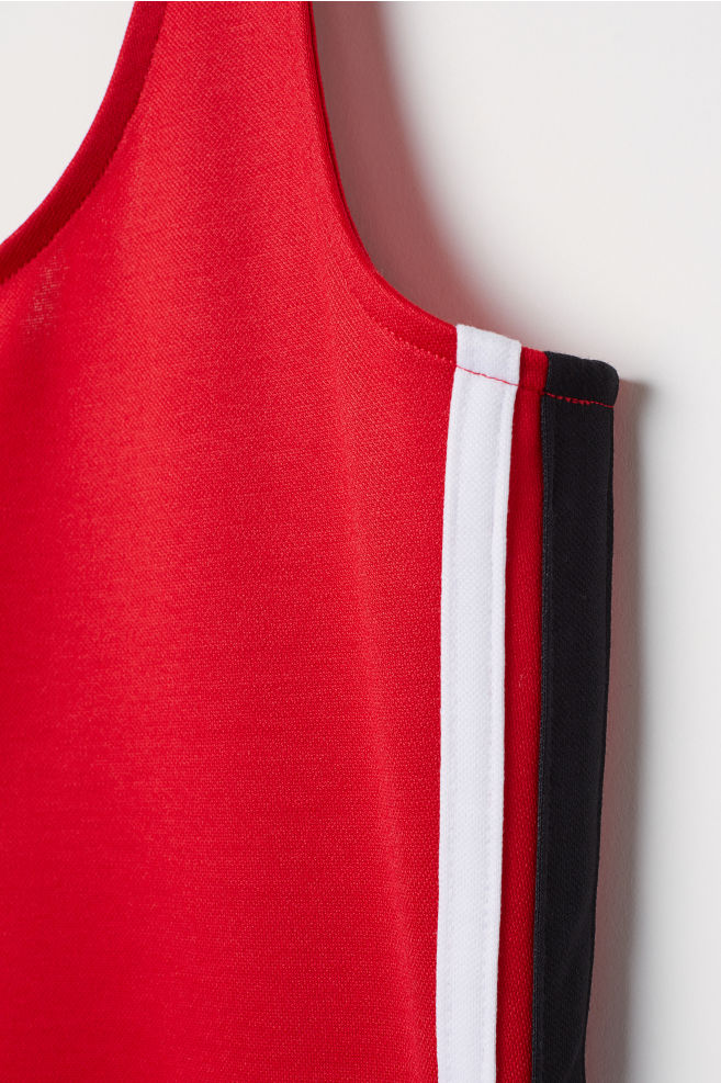 1f0e010c144aee Sleeveless Jersey Dress - Red - Ladies