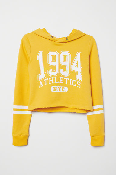 Short hooded top - Yellow/1994 - Kids | H&M