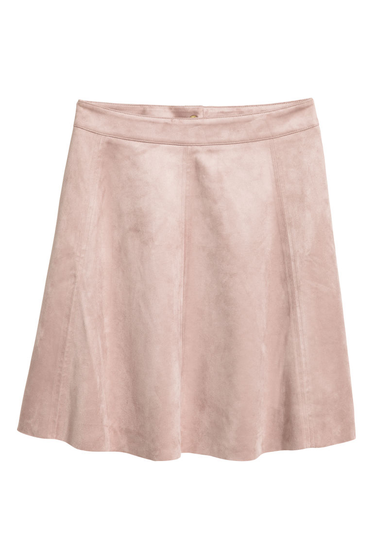 Knee-length skirt - Powder pink - Ladies | H&M CN