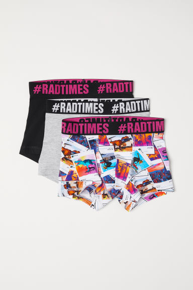 3-pack boxer shorts - Black/Rad Times - Kids | H&M