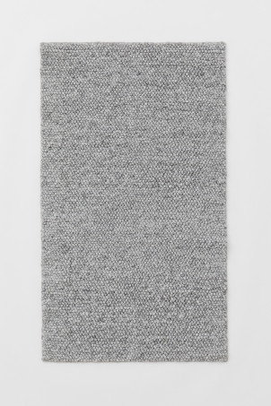 Textured-weave wool-blend rug