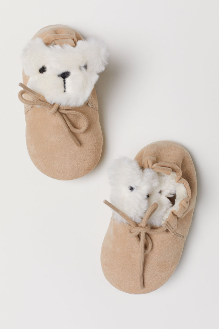 Soft slippers - Light beige - Kids | H&M