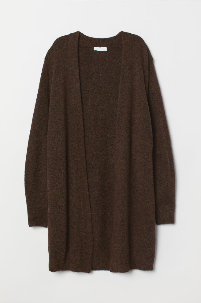 ee151a8b48 ... Long Cardigan - Dark brown melange -