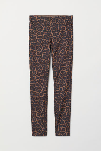 Treggings - Brown/leopard print - Ladies | H&M US