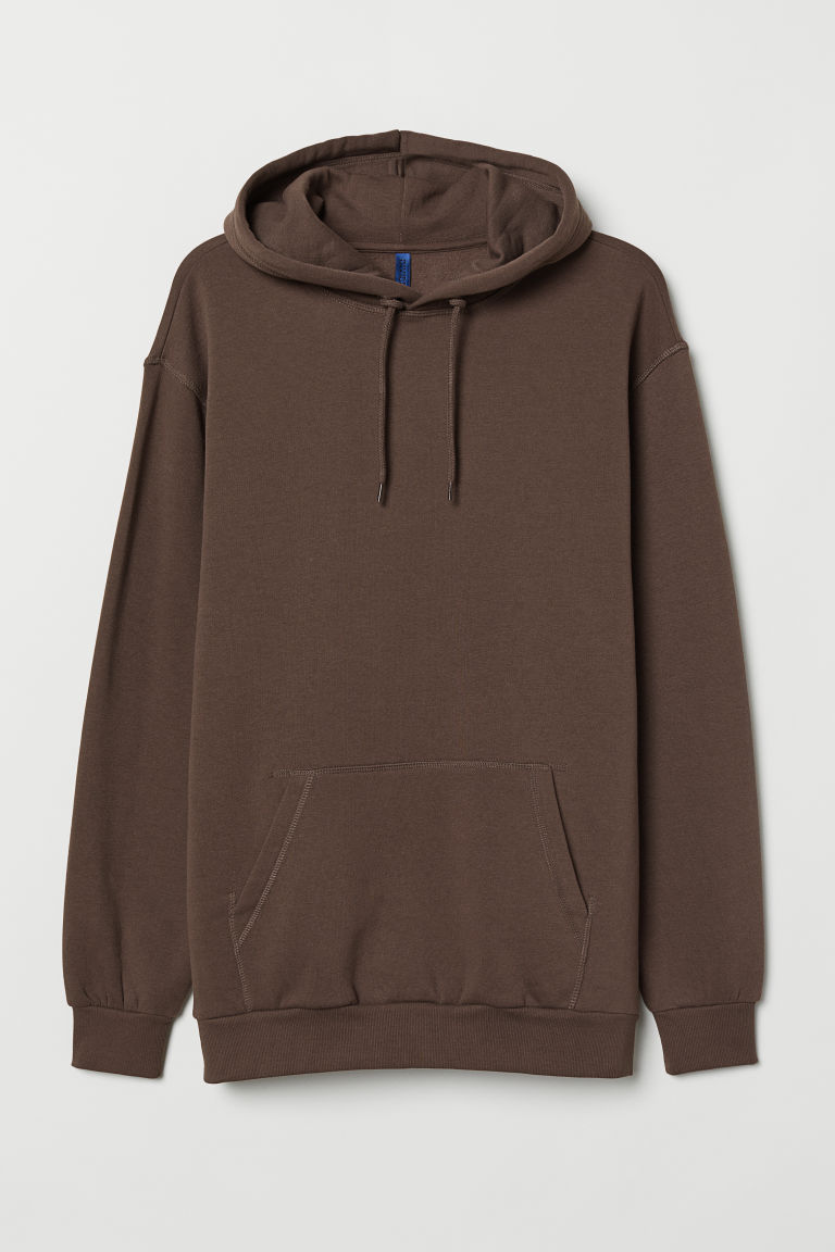 Hooded top - Dark brown - Men | H&M