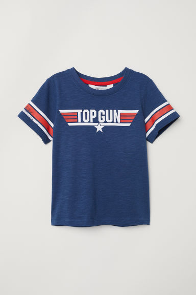 Printed T-shirt - Dark blue/Top Gun - Kids | H&M