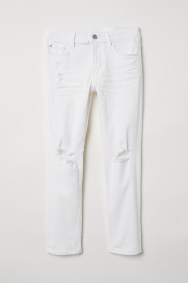 Skinny Fit Jeans - Wit - KINDEREN | H&M BE