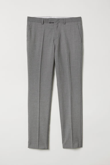 Suit trousers Slim fit - Grey - Men | H&M