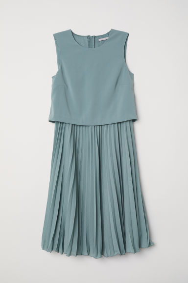 Pleated dress - Turquoise - Ladies | H&M