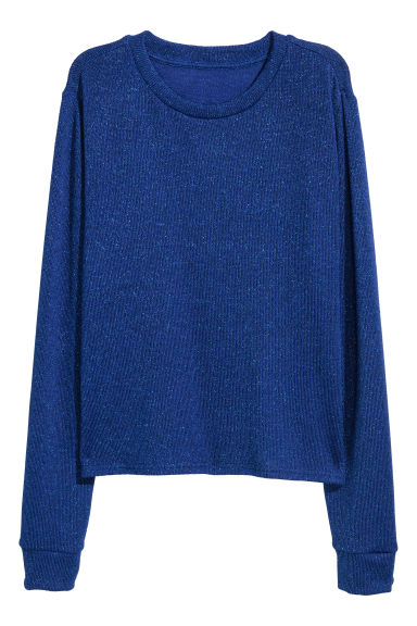 Pull scintillant - Bleu bleuet/carreaux -  | H&M BE