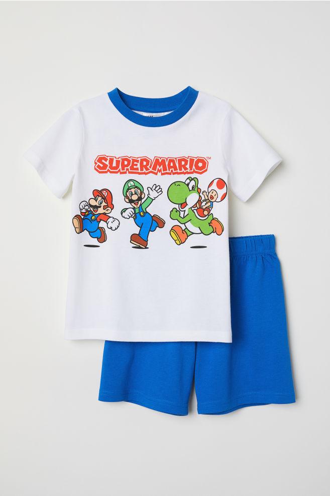 817150d6b Pijama com estampado - Azul Super Mario - CRIANÇA