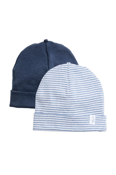 2-pack hats - Dark blue - Kids | H&M CN