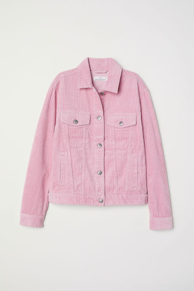 Corduroy jacket - Light pink -  | H&M CN