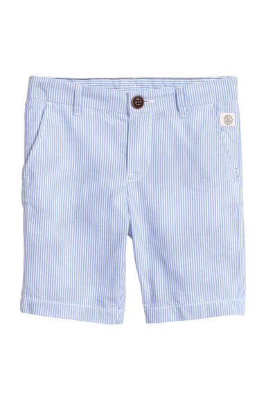 Chino shorts - Light blue/White striped - Kids | H&M