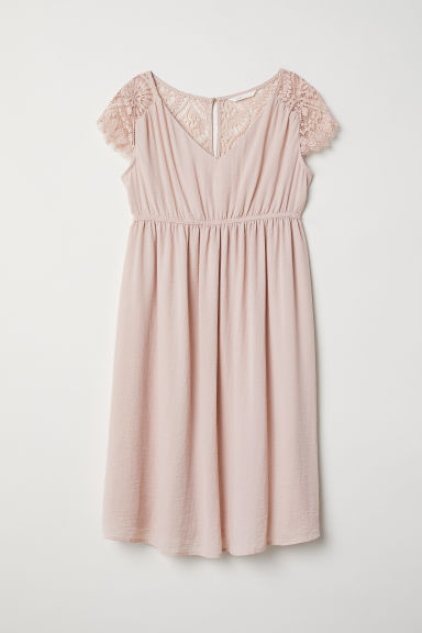 MAMA V-neck dress - Powder pink - Ladies | H&M CN