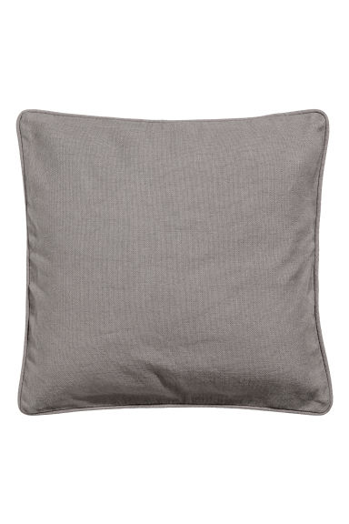 Cushion cover with piping - Grey - Home All | H&M GB