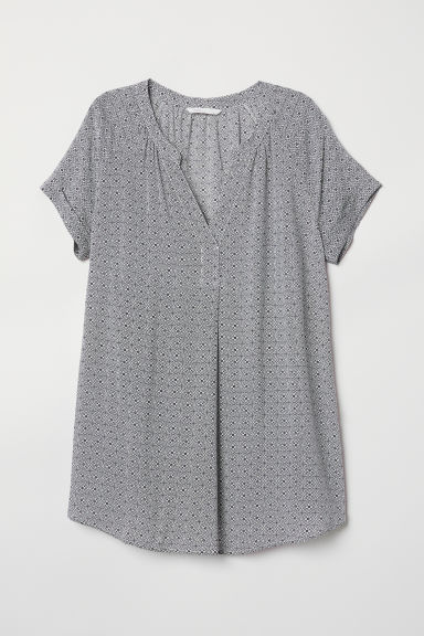 MAMA Patterned blouse - White/Patterned - Ladies | H&M CN
