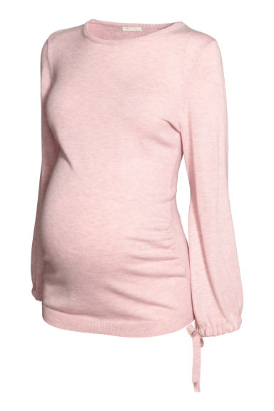 MAMA Fine-knit jumper - Light pink - Ladies | H&M