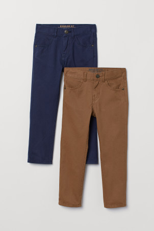 Pantaloni Regular fit, 2 pz