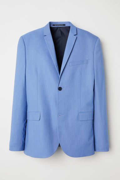 Jacket Skinny fit - Light blue marl -  | H&M