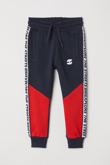 Joggers - Dark blue/Block-coloured -  | H&M CN