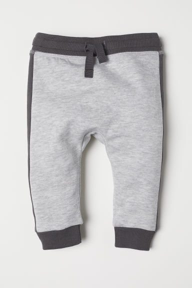 Cotton joggers - Light grey marl - Kids | H&M
