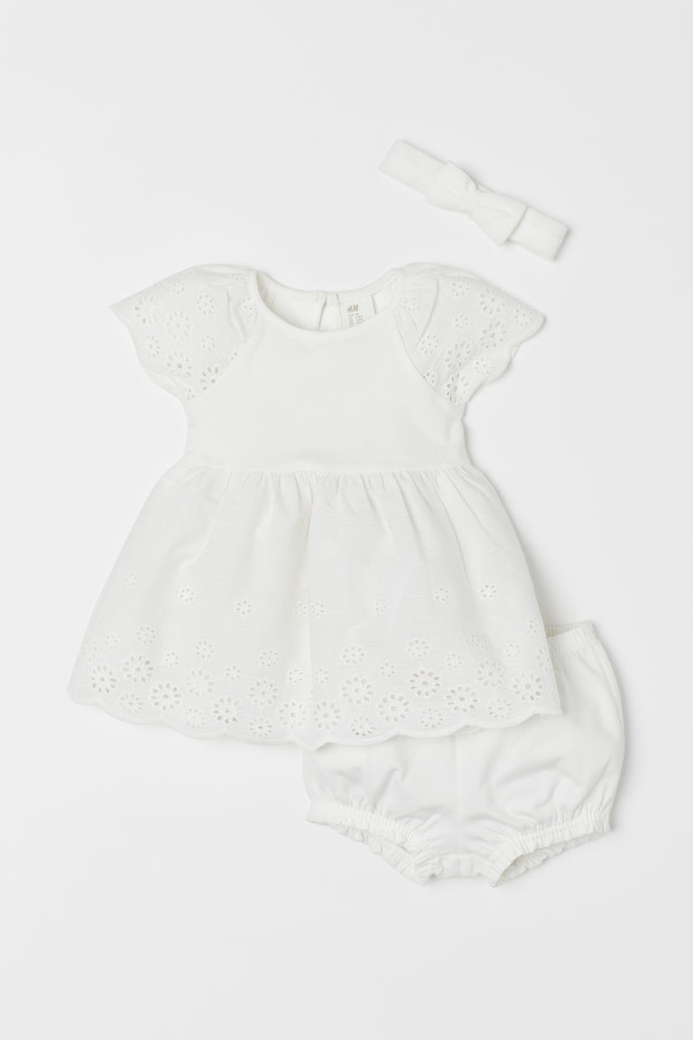 3-piece cotton set - White - Kids | H&M