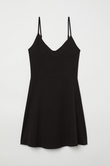 Short jersey dress - Black - Ladies | H&M