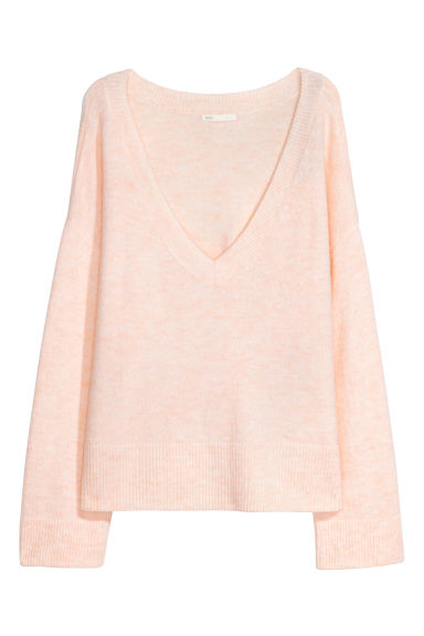 Knitted jumper - Light powder pink -  | H&M GB