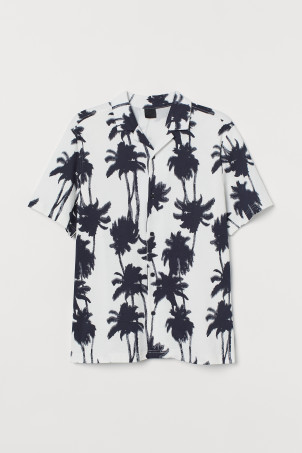 Camisa resort estampada
