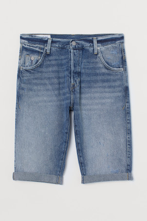 Shorts de denim Relaxed FitModelo