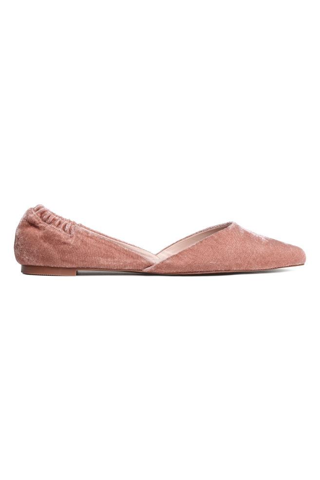 b2d7f9e6d9c Ballerinasko med spids tå - Vintagerosa - DAME | H&M ...