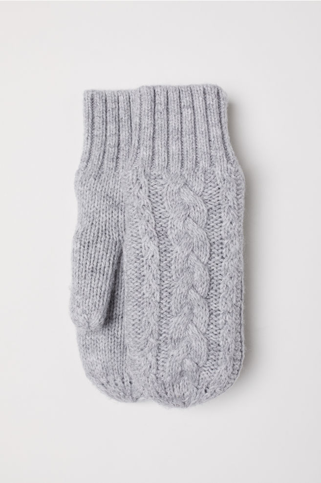 Knit Mittens - Light gray - Kids | H&M US