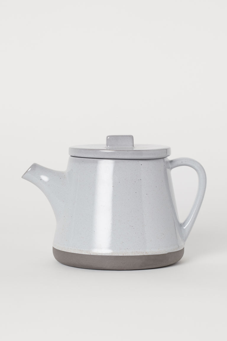 Stoneware teapot - Grey - Home All | H&M GB