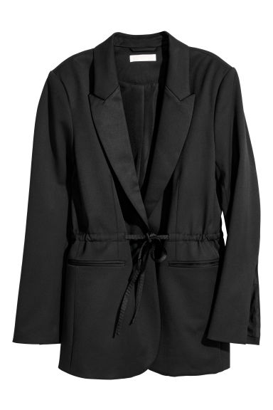 Giacca da smoking con coulisse - Nero - DONNA | H&M IT