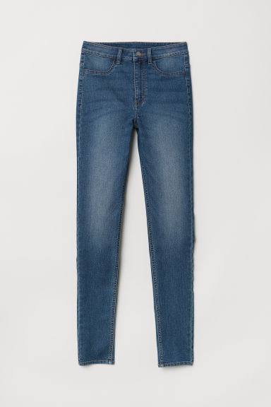 Super Skinny High Jeans - Dark denim blue -  | H&M