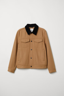 Short wool-blend jacket
