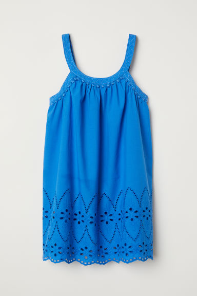 Cotton dress - Bright blue -  | H&M CN