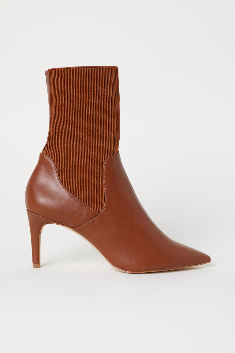 Ankle boots with a soft shaft - Brown - Ladies | H&M