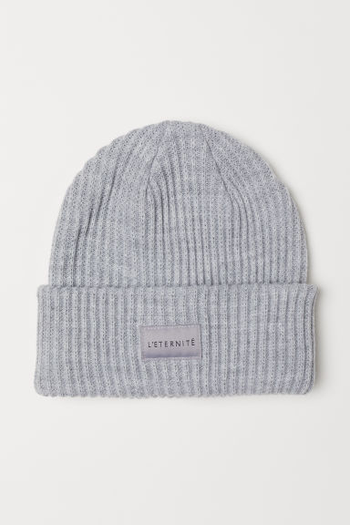 Ribbed hat - Light grey marl - Ladies | H&M CN