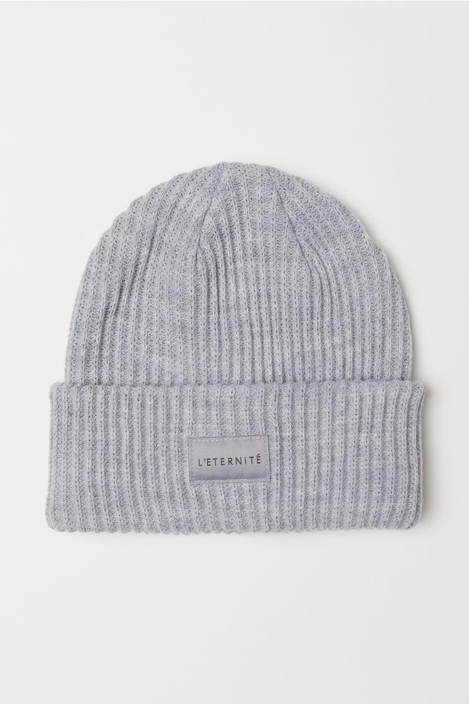 c4491285908 Ribbed hat - Light grey marl -